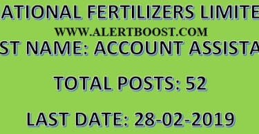 NATIONAL FERTILIZERS LIMITED ACCOUNT ASSISTANT