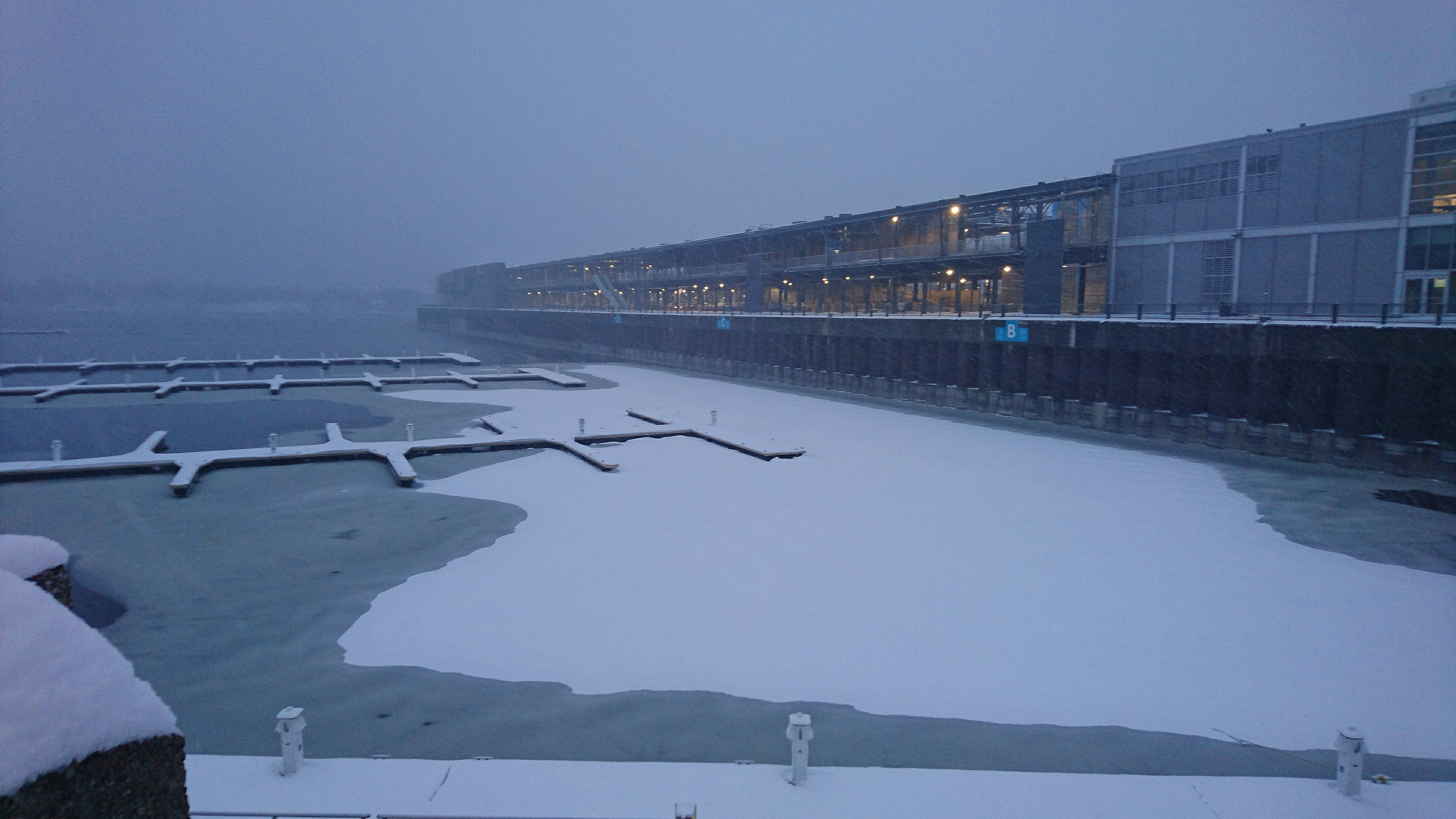 Frozen Old Port, Montreal