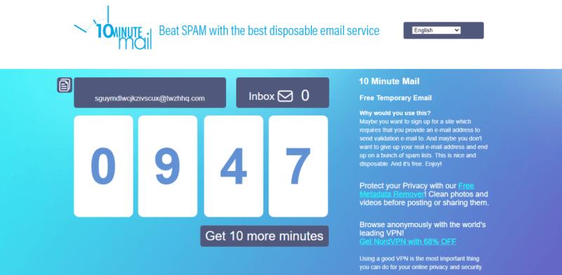 tutelare la privacy online ten minutes mail