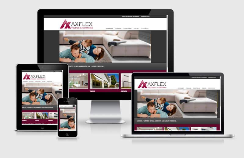 Desenvolvimento de site da Axflex