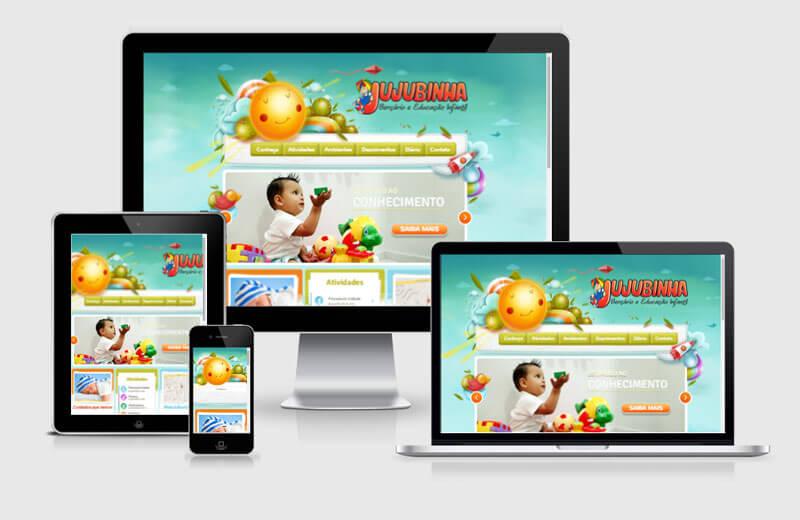 Desenvolvimento de site da Jujubinha