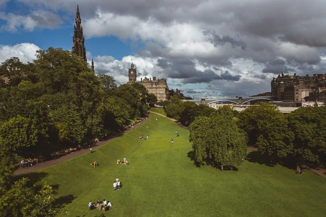Scozia - Princes Street Garden di Edimburgo