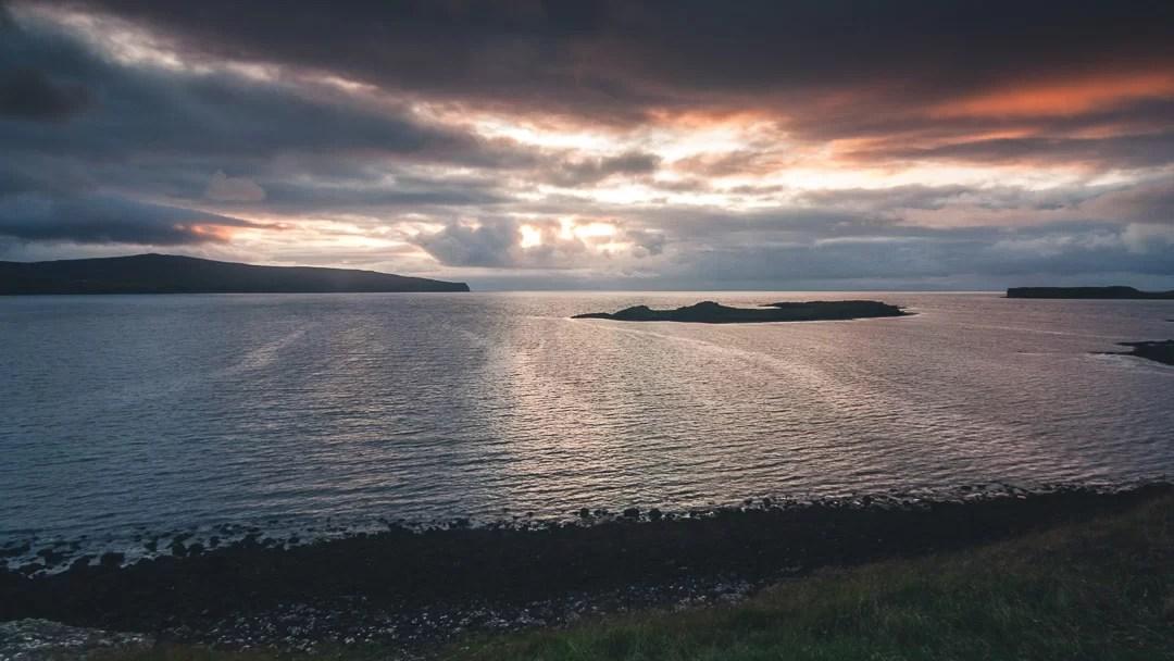 Scozia - Coral Beach al tramonto