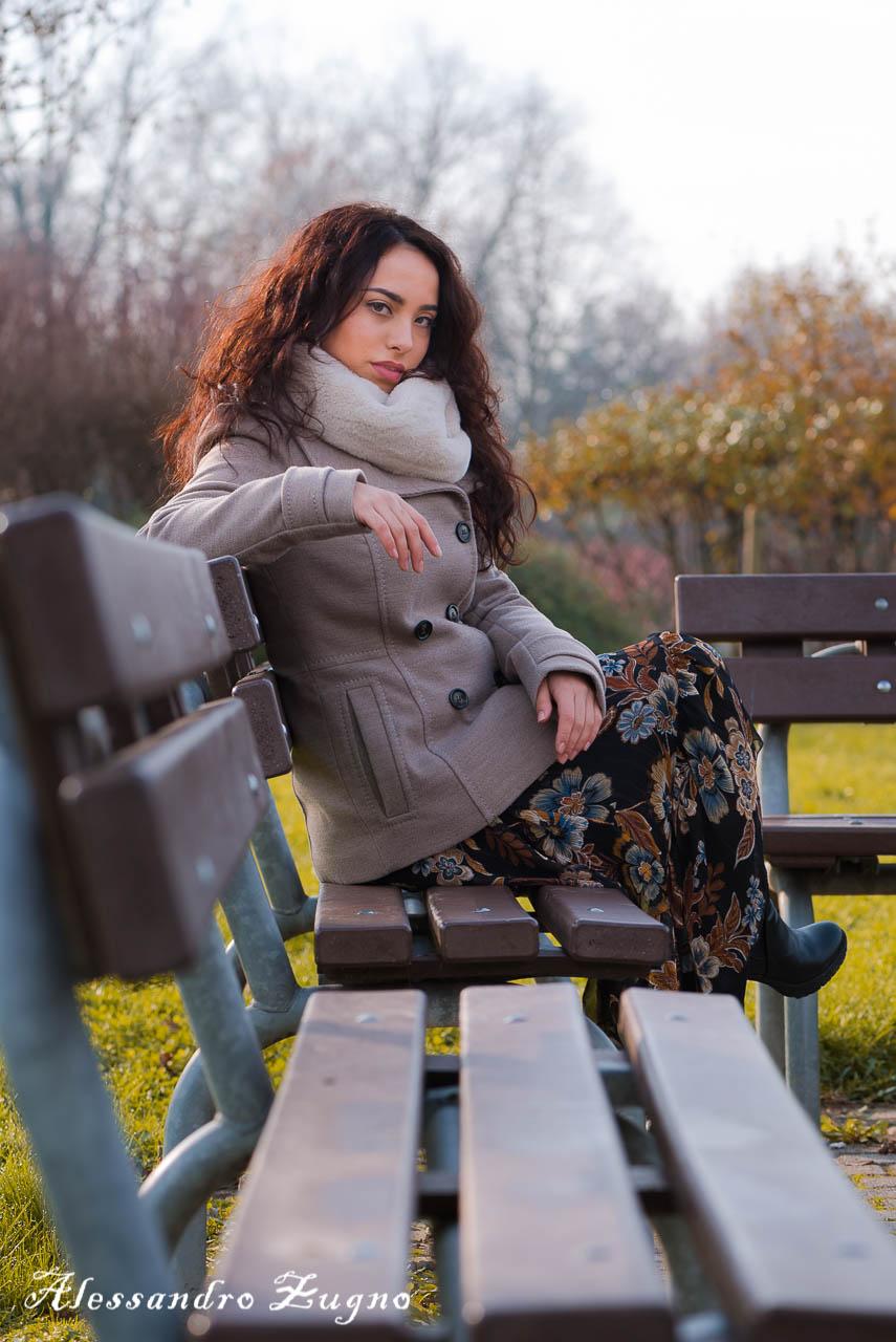 shooting fotografico di moda autunnale al Parco Iris di Padova