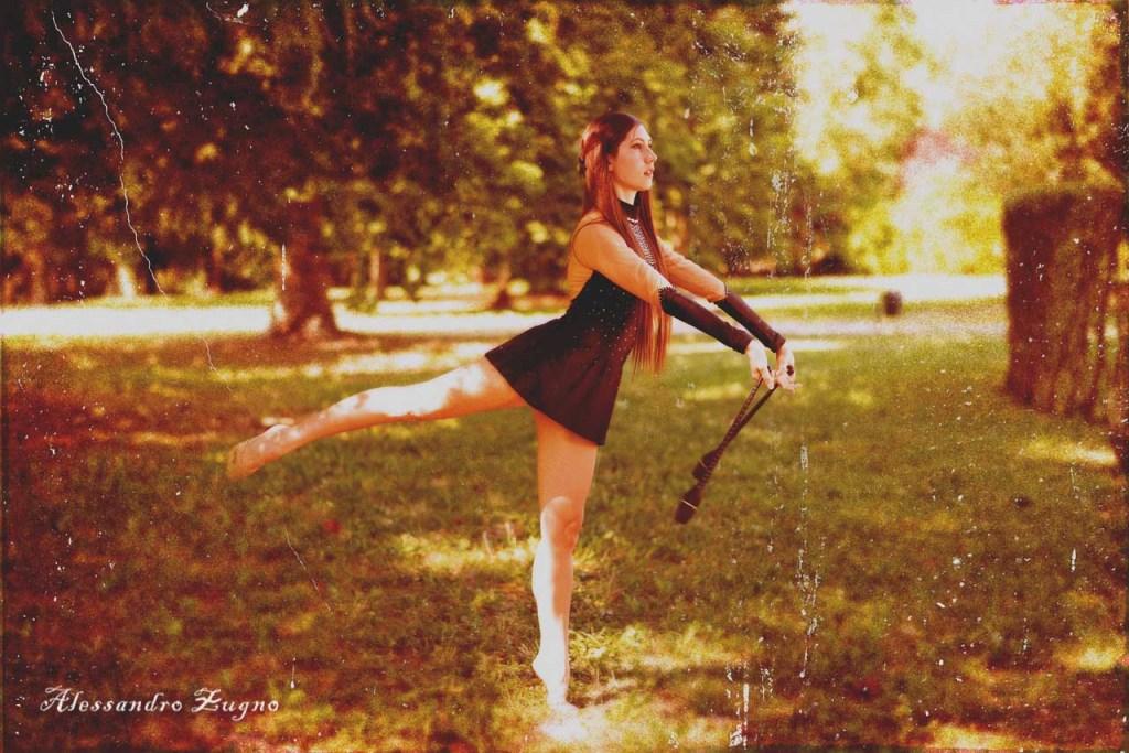 Foto Vintage di Ginnastica ritmica modificata con photoshop