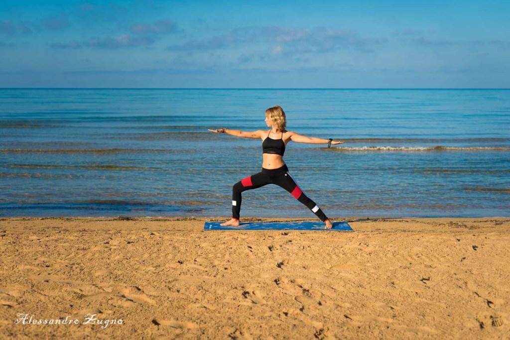 Yoga al mare nella spiaggia di Jesolo