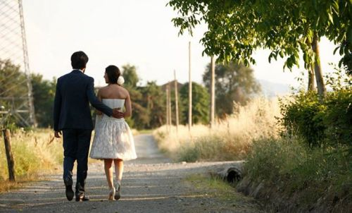 retro abito da sposa bustino e pizzo