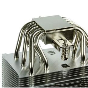 Kontaktfläche eines Scythe Mugen 5 CPU Kühlers.