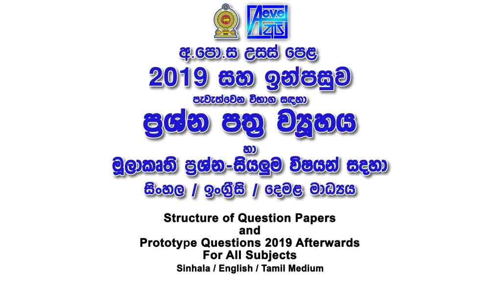 Structure of the Question Papers