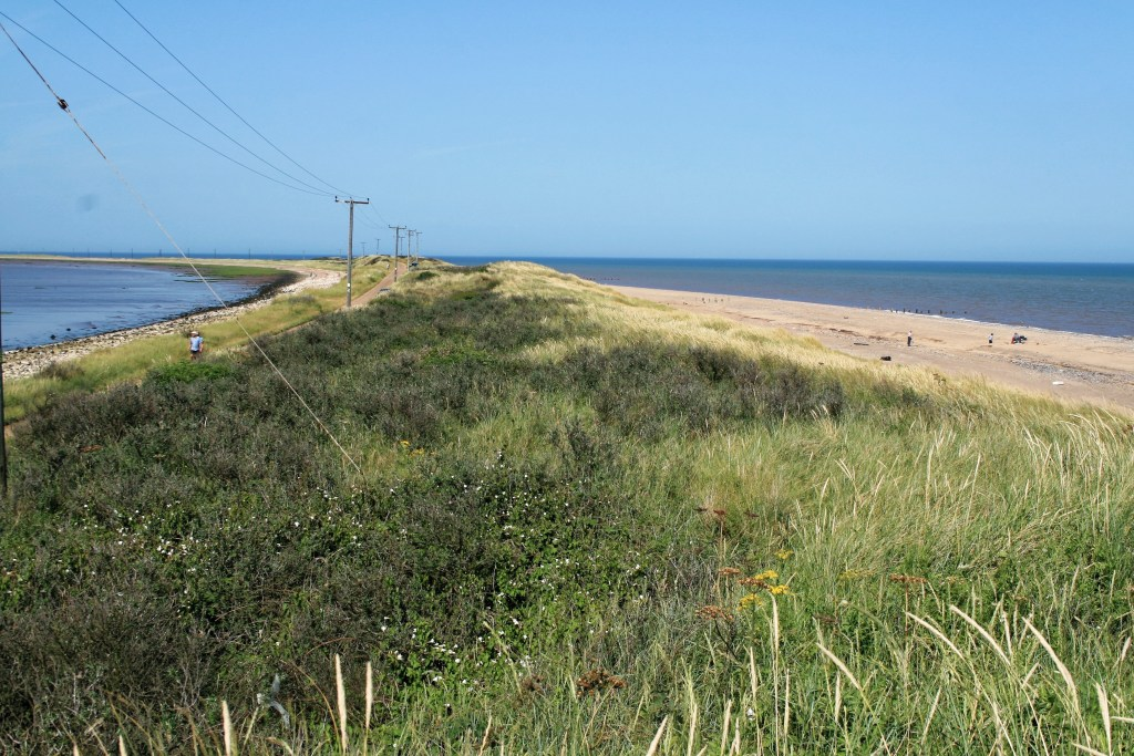 Spurn Point - a coastal spit formed by longshore drift.