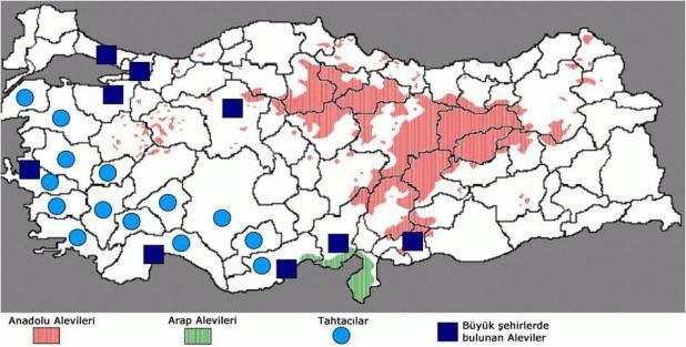 en çok alevi köyleri