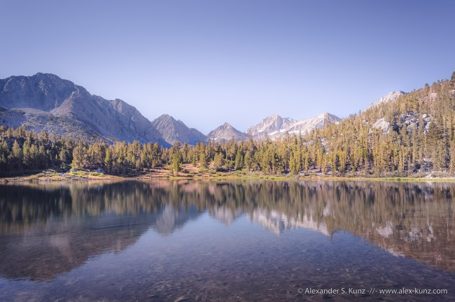 Morning Light at Heart Lake, a Sierra Nevada photograph by Alexander S. Kunz