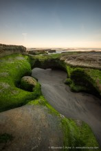 Tabletop Reef in the morning, Seaside State Beach, Cardiff By The Sea, California, United States