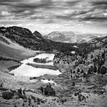 Photo of Barney Lake from Duck Pass, Mammoth Lakes, California, United States.