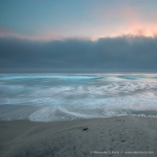 Marine Layer at Seaside State Beach, Cardiff By The Sea, California, United States.