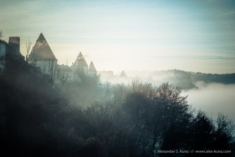 Burghausen Castle, Foggy Morning