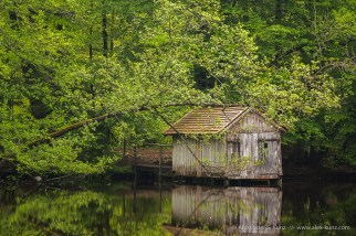 Old Boat House at Huckinger See, Hofstadt, Innviertel, Austria