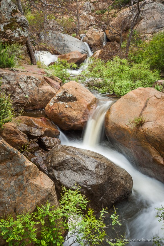 Boulder Hopping -- Three Sisters Waterfalls, Cleveland National Forest, California, United States