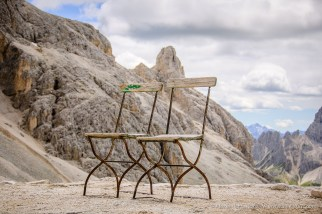 Take a break on Passo Principe -- Rosengarten, South Tyrol, Italy