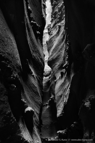 Slot Canyon in the Coyote Mountains Wilderness, Ocotillo, California. January 2016.