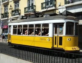 Electrico Straßenbahn in Lissabon