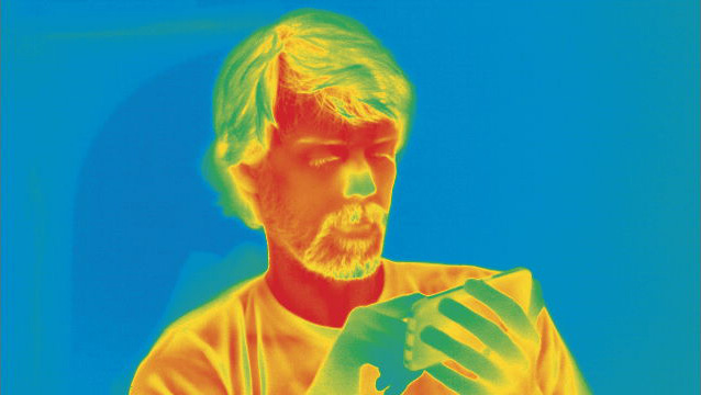 Person through a thermal camera