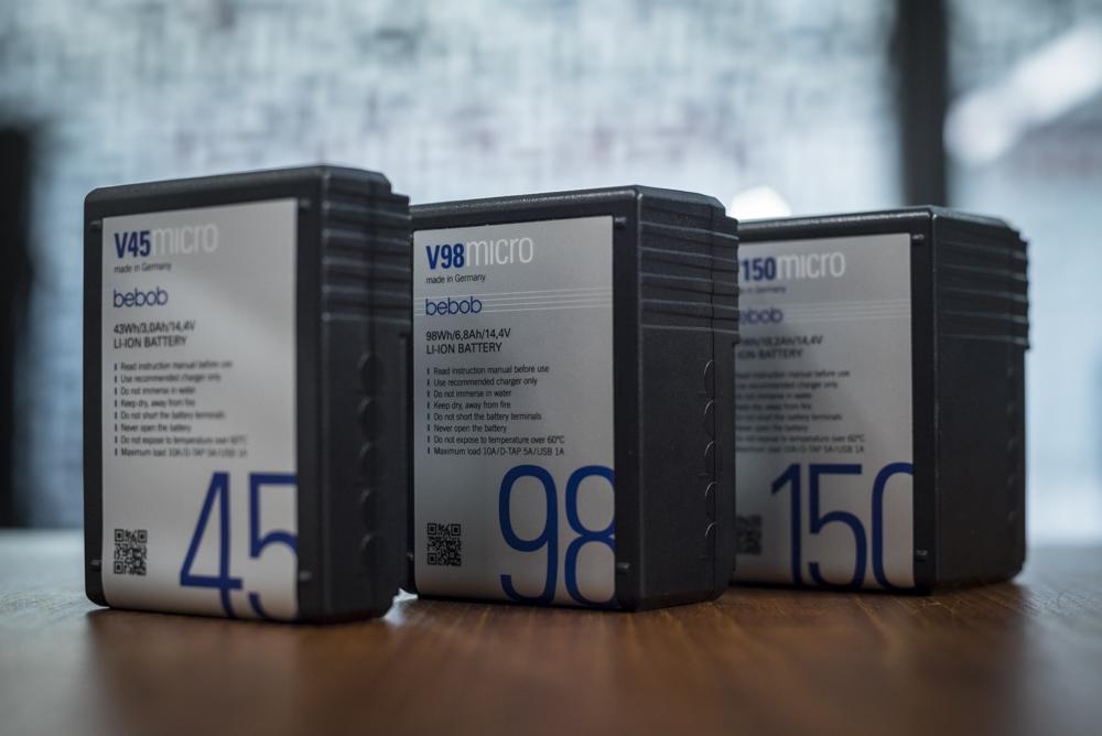 The Bebob V45Micro, V98Micro and V150Micro batteries