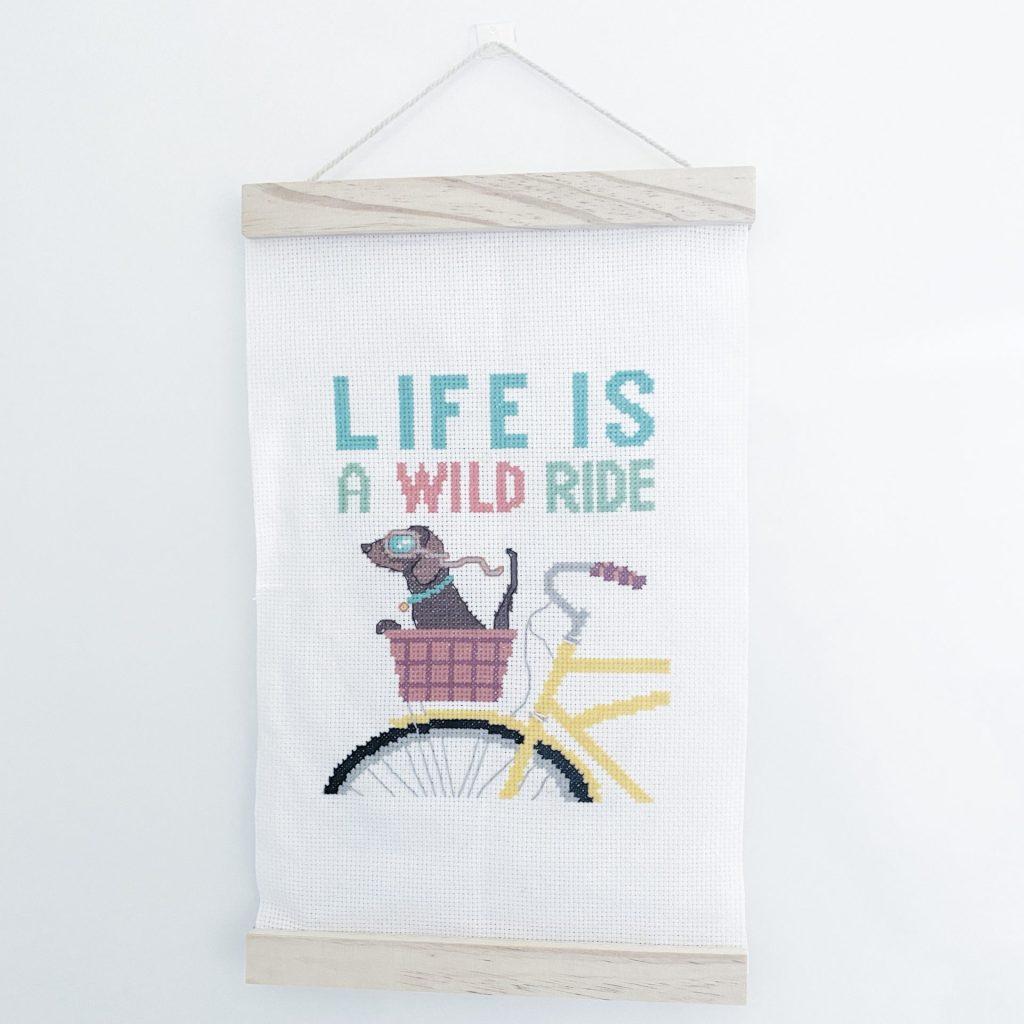 Love Crafts – Life is a wild ride cross stitch