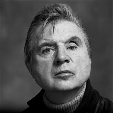 black & white photograph of Francis Bacon