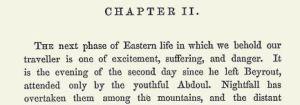 Engelse uitgave (1860), begin van het 2e hoofdstuk