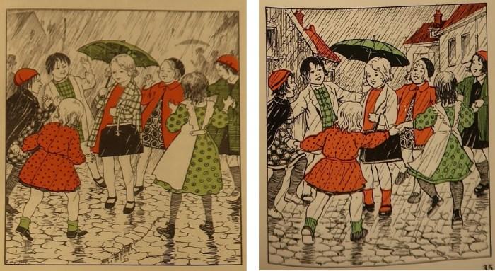 Illustratie op pagina 35 uit 'Van vier kleine kleuters'