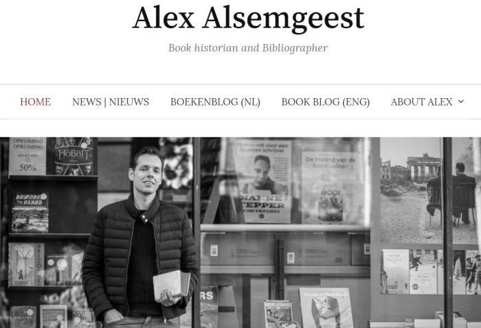 Frontpage of www.alexalsemgeest.nl