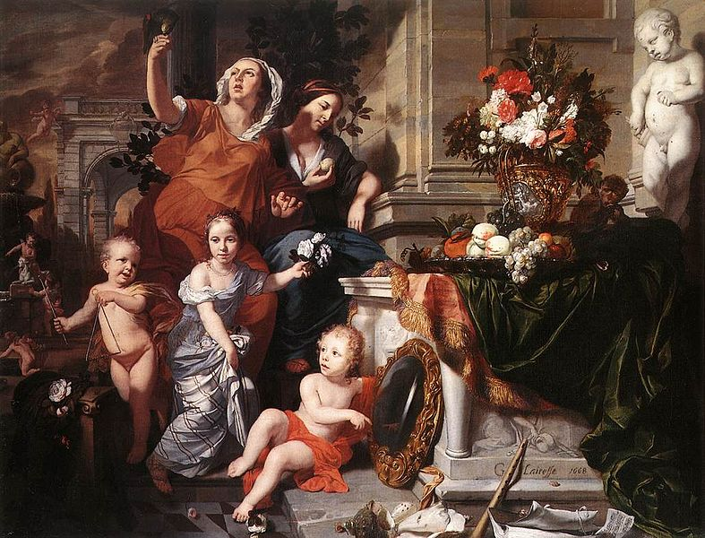 787px-1668 Gérard de Lairesse - Allegory of the Five Senses