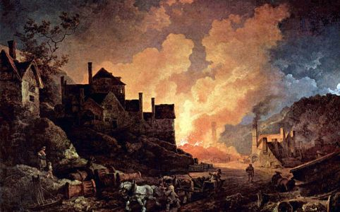 Philipp Jakob Loutherbourg d.Jüngere - Coalbrookdale by Night URL: https://commons.wikimedia.org/wiki/File:Philipp_Jakob_Loutherbourg_d._J._002.jpg