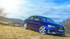 Audi RS3 Limousine mysticblau - Audi RS3 Sedan mysticblau