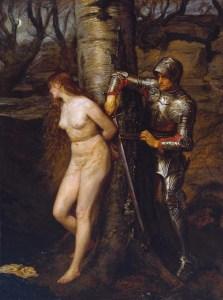 The Knight Errant *oil on canvas *184.1 x 135.3 cm *1870