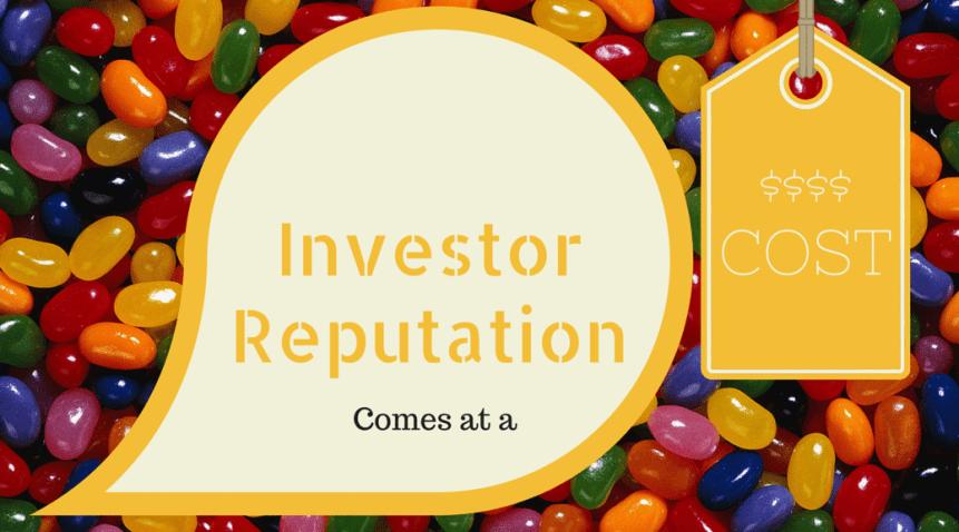 reputation cost investor venture capital