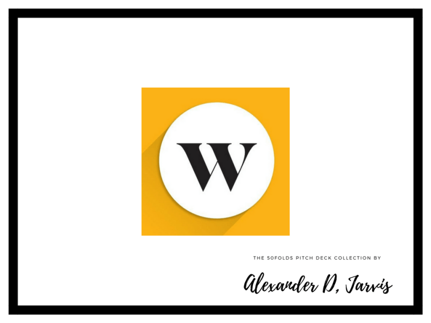 Wealthsimple pitch deck startup fundraise investment