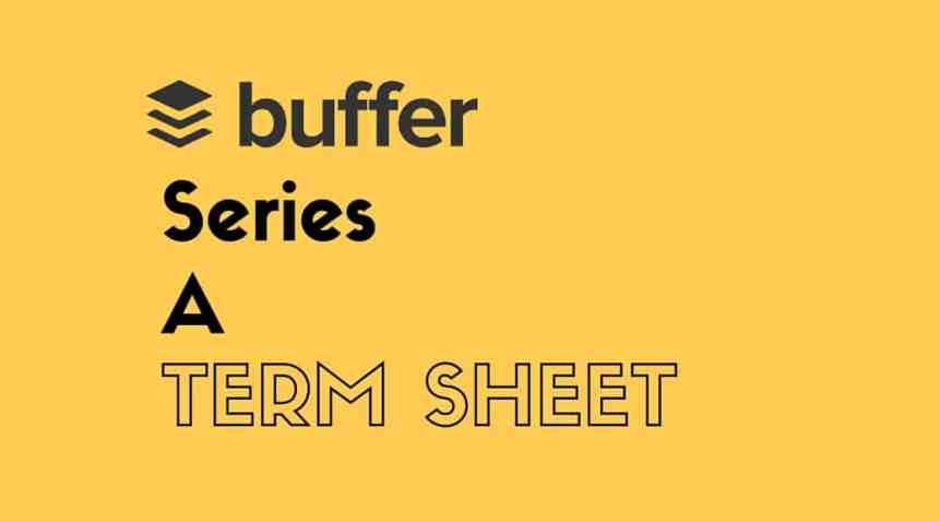 buffer series a term sheet investment