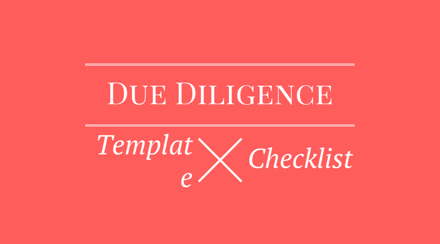 Due diligence checklist template startup venture capital fundraise