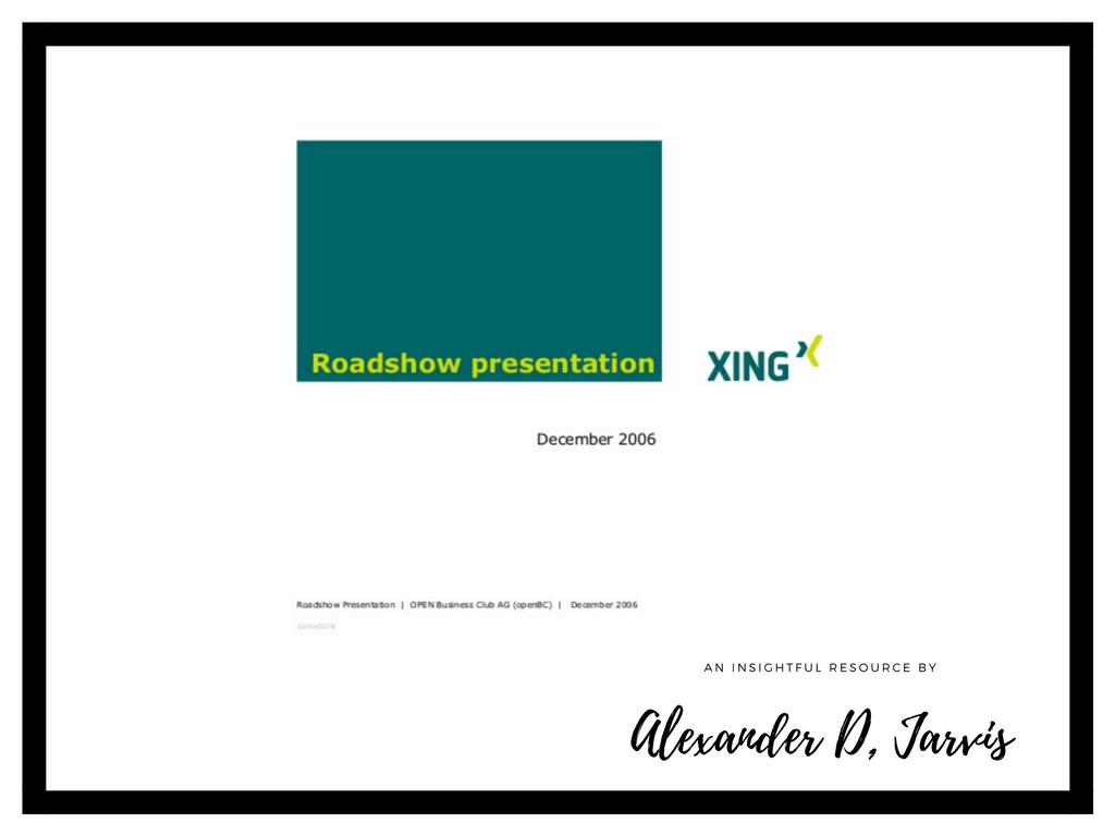Xing roadshow presentation