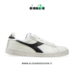 DIADORA UOMO | GAME L LOW WAXED 2019 BIANCO WHITE BLACK NERO