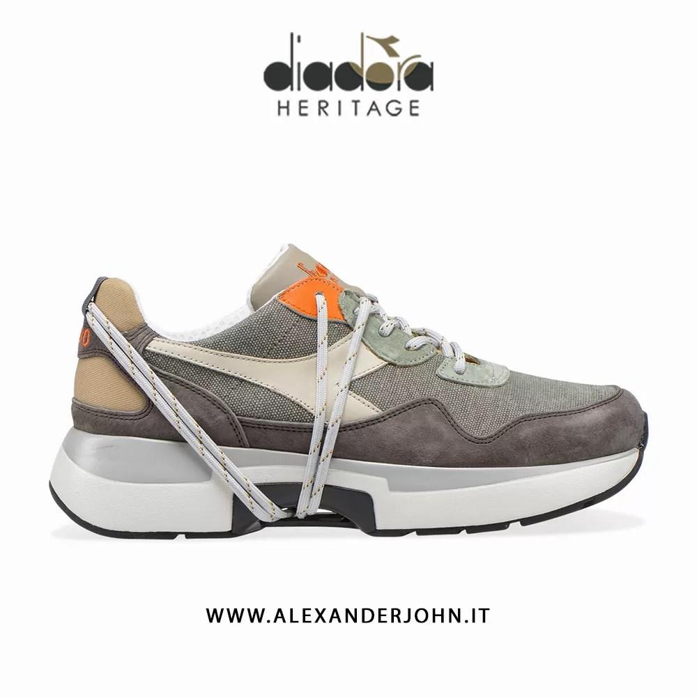 Diadora N9000 TXS H Stone Wash Sneaker Uomo Verde Green, 42