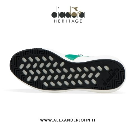 MI BASKET H LEATHER MDS WHITE PEPPER GREEN BIANCO VERDE
