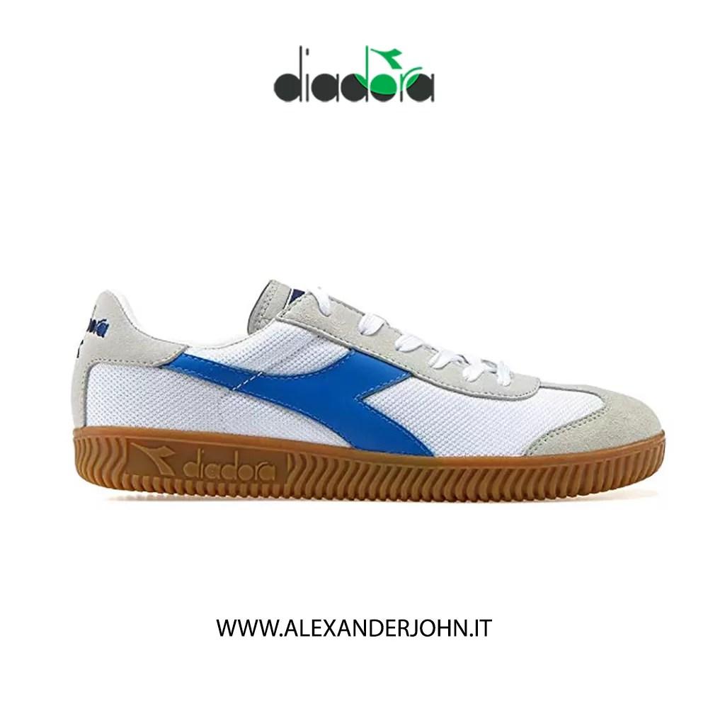 2020 Uomo Diadora B.Elite Bianco & Verde Leather Sneaker