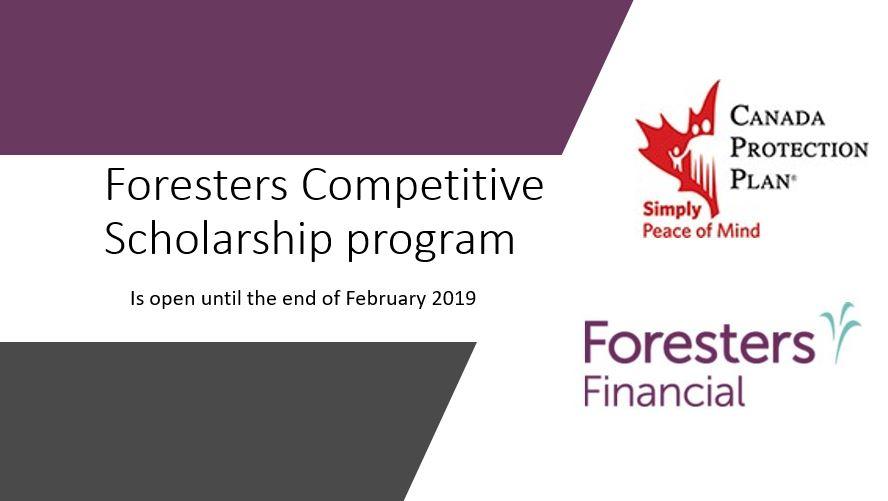 Принимаются заявки на стипендию от Foresters. Крайний срок – 28 февраля.