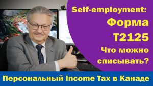 Налоговая декларация в Канаде: Форма Т2125.