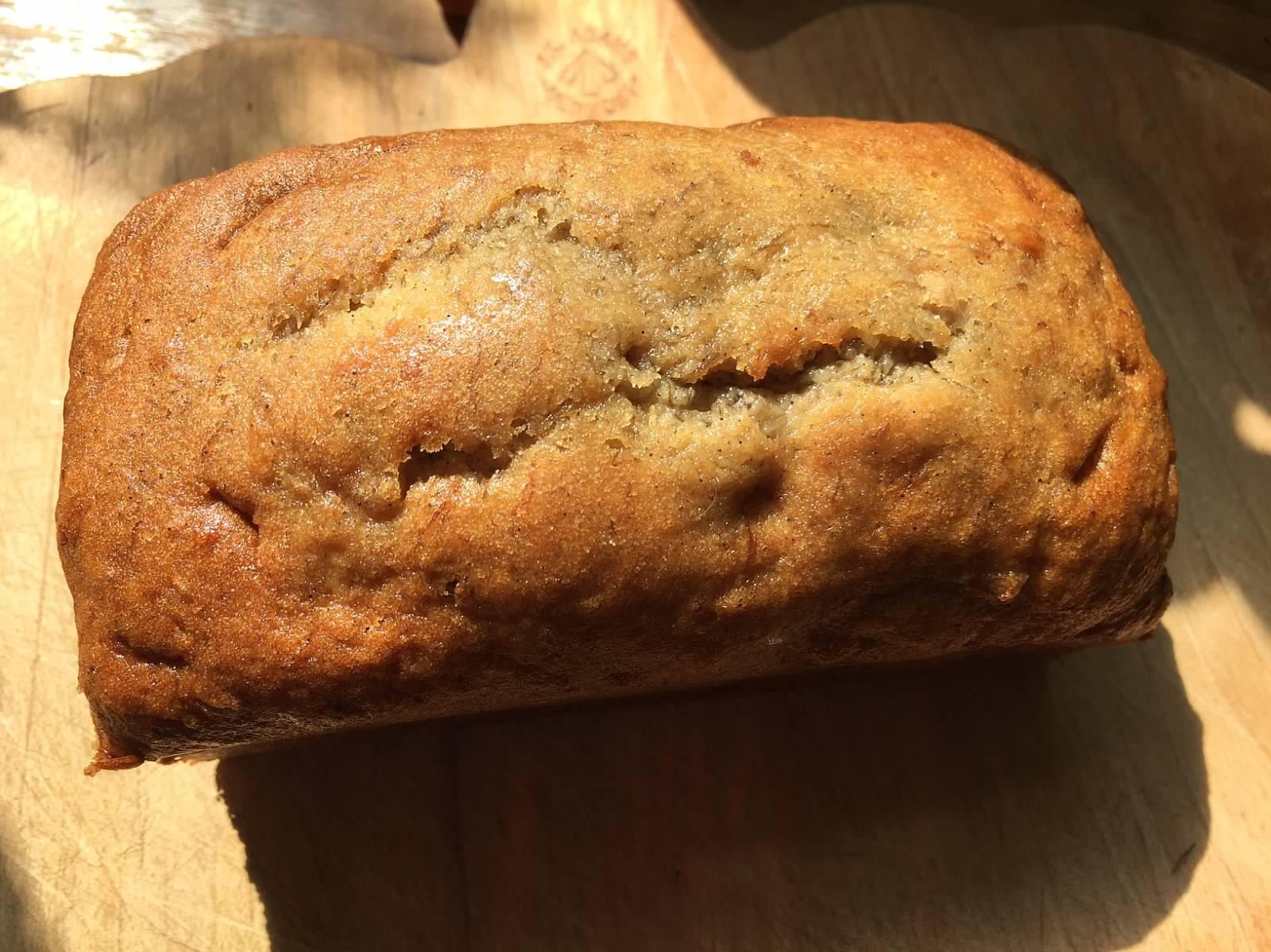 Cinnamon Brown Sugar Banana Bread (No Nuts)