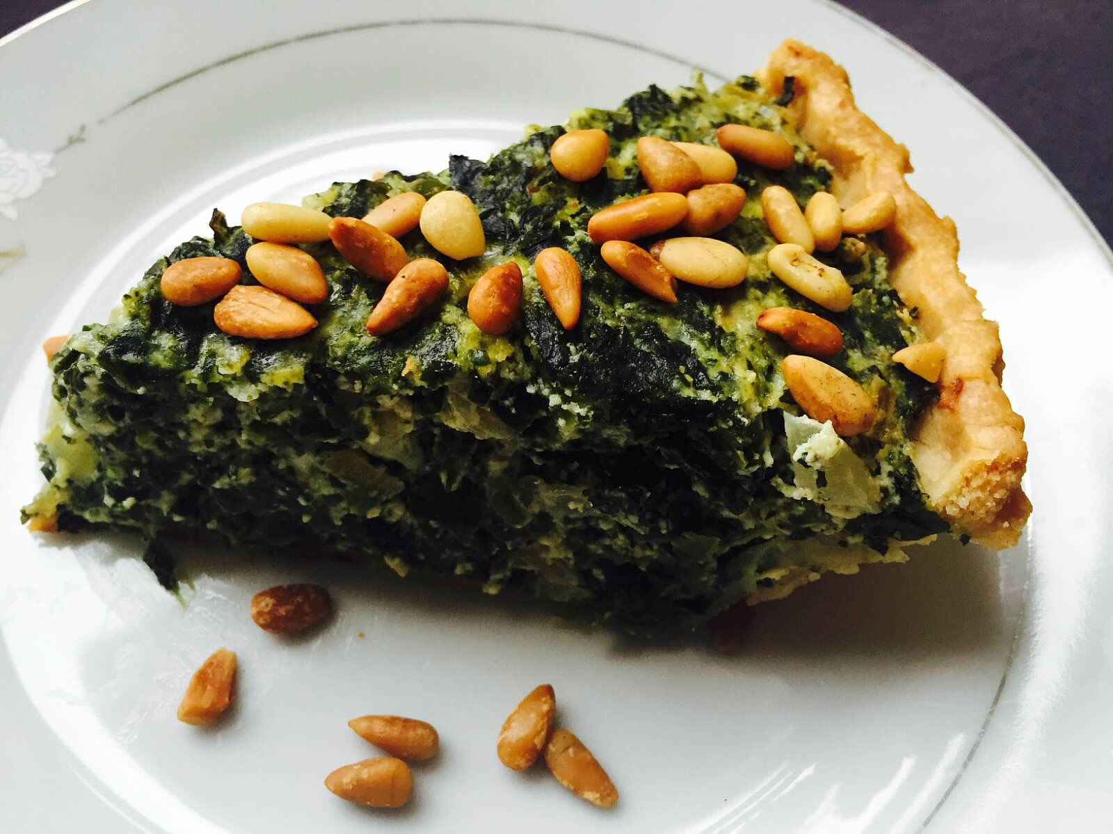 Florentine Pie with Pine Nuts from Alexandersmom.com