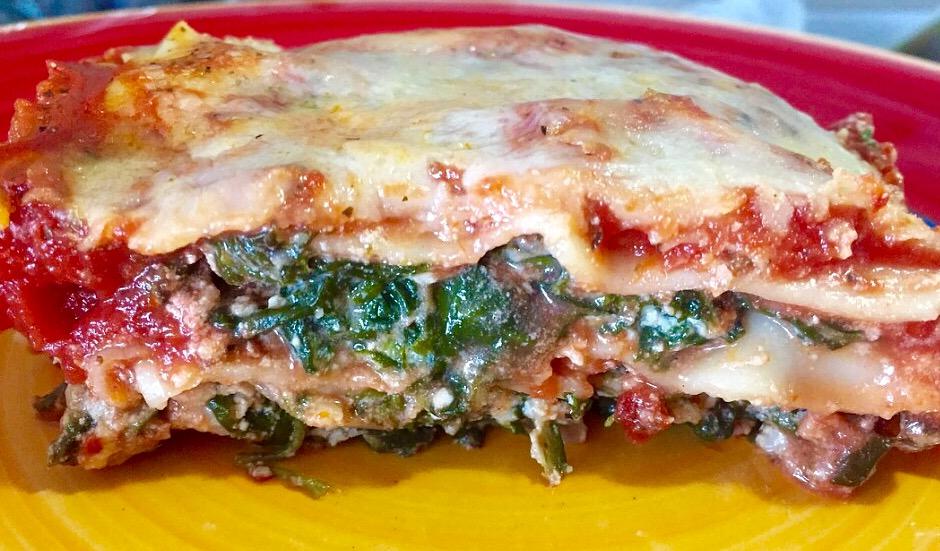 Scrumptious Spinach Lasagna from Alexandersmom.com